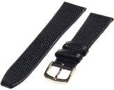 Republic Men's Java Lizard Grain Leather Watch Strap 18mm Long Length, Black