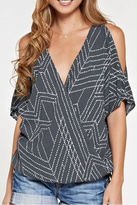 Love Stitch Lovestitch Cold Shoulder Top