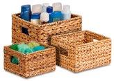 Honey-Can-Do 3 Piece Nesting Natural Basket Set