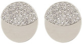 Nadri Eclipse Round Pave Double Sided Earrings