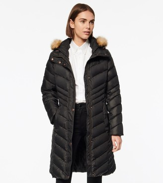 Andrew Marc Miranda Chevron Quilted Down Jacket