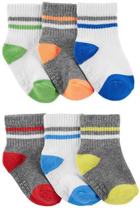 Carter's 6 Pair Crew Socks Boys Baby