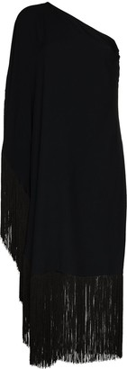 Taller Marmo Piccolo Ubud one-shoulder fringed midi dress