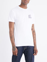 Obey Midnight angels printed cotton-jersey T-shirt