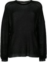 Laneus sheer sweater - women - Polyamide/Polyester/Viscose - 40
