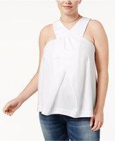 Rachel Roy Trendy Plus Size Cotton Crossover Top