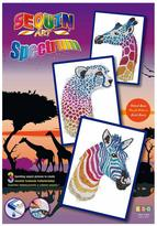 Sequin Art Sequin Safari - Triple Pack - Giraffe, Cheetah, Zebra