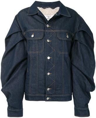 Natasha Zinko Oversized Sleeves Denim Jacket