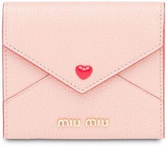 Miu Miu Madras love envelope card holder