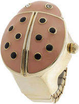 JCPenney Decree Womens Ladybug Ring Watch