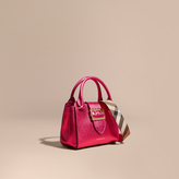 Burberry The Small Buckle Tote in Metallic Leather