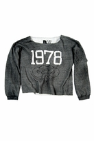 Rebel Yell 1978 Boyfriend Pullover in Heather Gray