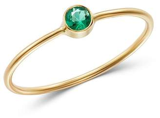 Chicco Zoë 14K Yellow Gold Emerald Bezel-Set Ring