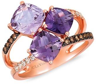 LeVian 14K Strawberry Gold 2.81 Ct. Tw. Diamond & Gemstone Ring