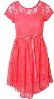 JCPenney Pinky Floral Lace Dress - Girls 7-16