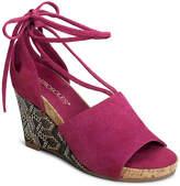 Aerosoles Women's Spring Plush Wedge Sandal -Fuchsia