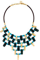 Tory Burch Wood & Bead Statement Necklace