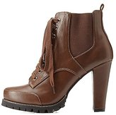 Charlotte Russe Lug Sole Side-Gored Combat Booties