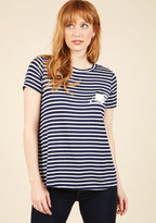 Dapper Day Off Striped Top in Saturn in S