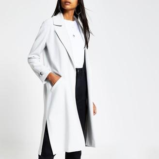 River Island Womens Grey open front jersey duster jacket