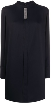 Fabiana Filippi mock-neck longline tunic