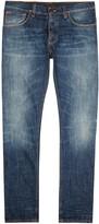 Nudie Jeans Steady Eddie Blue Straight-leg Jeans