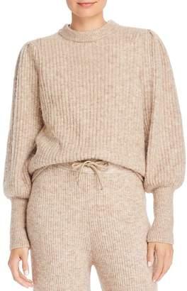 Notes du Nord Meg Balloon-Sleeve Ribbed Knit Sweater