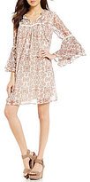 Gibson & Latimer Floral Printed Bell Sleeve Dress