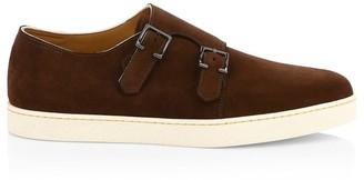 John Lobb Holme Suede Double Monk-Strap Sneakers