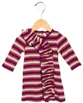 Little Marc Jacobs Girls' Striped Ruffle-Trim Dress w/ Tags