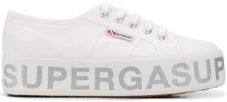 Superga Logo Print Platform Trainers
