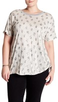 Democracy Knotted Hem Print Tee (Plus Size)