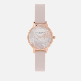 Olivia Burton Women's Abstract Florals Watch - Blush & Rose Gold