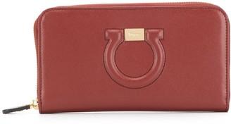 Salvatore Ferragamo Gancini zipped wallet