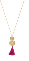 Gorjana Phoenix Pendant Necklace in Metallic Gold.