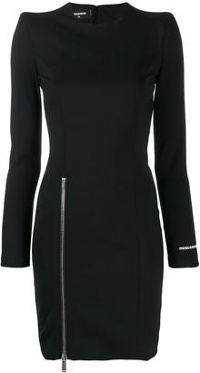 DSQUARED2 side zip logo dress