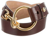 Michael Kors Leather Logo Waist Belt