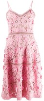 MICHAEL Michael Kors Floral Applique Fitted Dress
