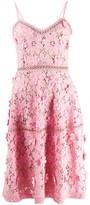 MICHAEL Michael Kors floral applique fitted dress