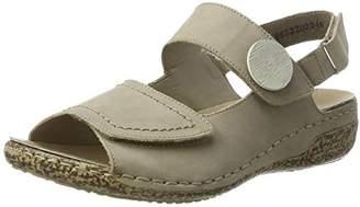 Rieker Women's V7272 Wedge Heels Sandals, Grey (Steel / 42)