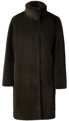Akris Punto Faux Fur Stand-Collar Coat