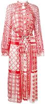 Fendi geometric print maxi dress - women - Silk/Viscose - 40