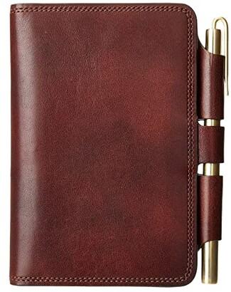 Bosca Dolce Journal Field Notes (Dark Brown) Wallet