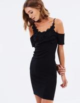 Miss Selfridge Crochet Cold Shoulder Dress