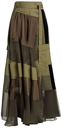 Sacai Combo Utility Maxi Skirt