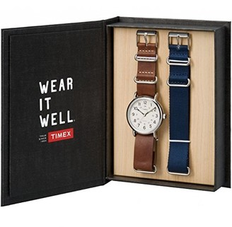 Timex Unisex-Adult Analogue Classic Quartz Watch with Leather Strap TWG012500