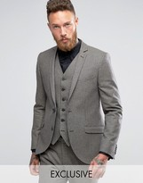 Heart & Dagger Skinny Suit Jacket In Dogstooth