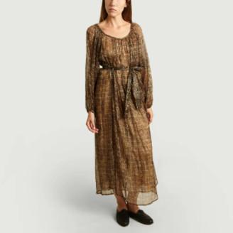 Mes Demoiselles Brown Raissa Printed Maxi Dress - 36