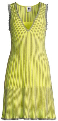 M Missoni Metallic Striped Knit Dress