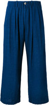 Blue Blue Japan cropped trousers - women - Rayon/Linen/Flax - S